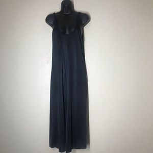 Black stretchy maxi slip dress large